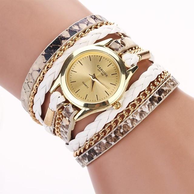 Women's Bracelet Watch Wrap Bracelet Watch Analog Quartz Wrap Ladies / One Year / Quilted PU Leather