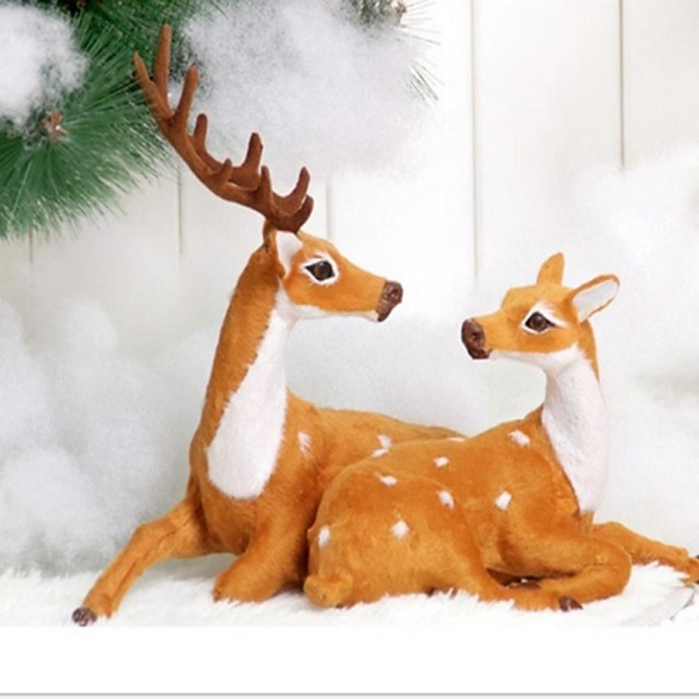 1PC Celebrate Decoration Gift Christmas Couples Deer Ornaments
