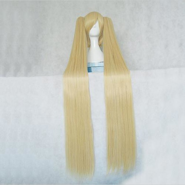 Cosplay Wigs Vocaloid Hatsune Miku Blonde Anime / Video Games Cosplay Wigs 48 inch Heat Resistant Fiber Women's Halloween Wigs