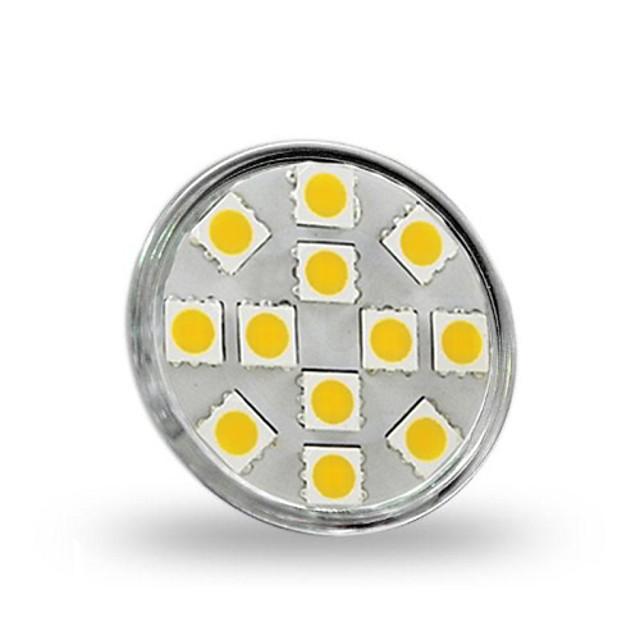 1.5 W LED 스팟 조명 130-150 lm GU4(MR11) MR11 12 LED 비즈 SMD 5050 장식 따뜻한 화이트 12 V / RoHS 규제