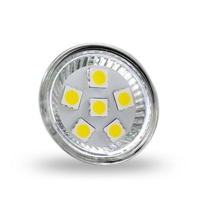 Faretti LED 200 lm GU4(MR11) MR11 6 Perline LED SMD 5050 Decorativo Luce fredda 12 V / RoHs