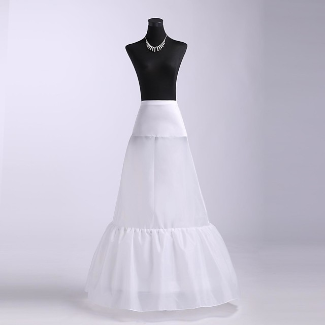 Wedding / Party / Evening Slips Spandex / Tulle Floor-length A-Line Slip / Classic & Timeless with
