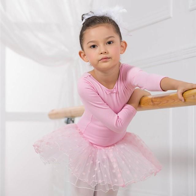 Roupas de Dança para Crianças / Balé Vestidos / Vestidos e Saias / Tutus Algodão Manga Longa / Espetáculo