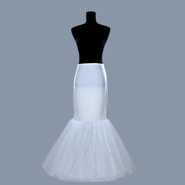 Wedding Slips Organza / Lycra Floor-length Mermaid and Trumpet Gown Slip with