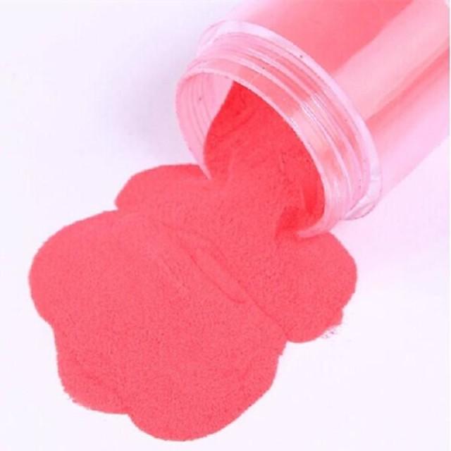 1*12 Akrylfiber Glitterpulver Vackert 12 färger Frukt Blomma Abstrakt Dagligen för finger tå / Tecknat / Punk