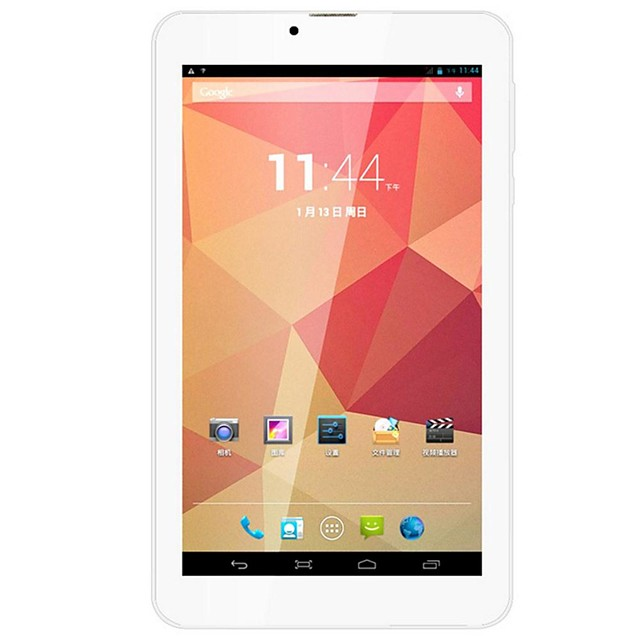 7 pulgada Tableta androide (Android 4.2 1024 x 600 Dual Core 512MB+8GB) / 32 / 1.3 / TFT / Micro USB / Ranura de trajeta SIM