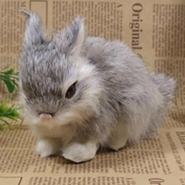Gray Emulational Easter Bunny Collectible