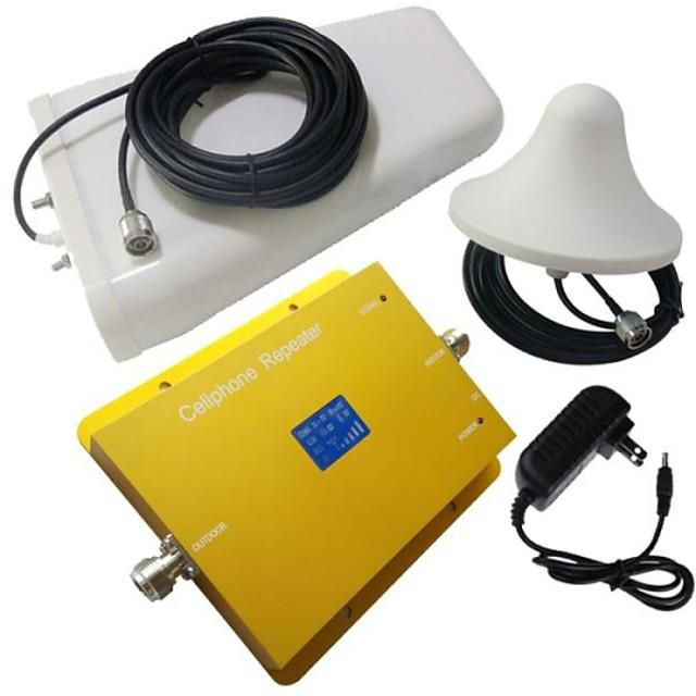 nouvel écran lcd GSM900MHz wcdma2100mhz dual band amplificateur de signal de téléphone avec antenne log périodique et plafond