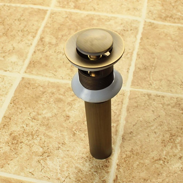 Faucet accessory - Superior Quality - Vintage Brass Pop-up Water Drain With Overflow - Finish - Antique Brass