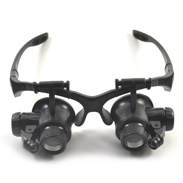 High Definition LED Headset / Eyewear 10/15/20/25 Magnifiers / Magnifier Glasses 15 mm Plastic