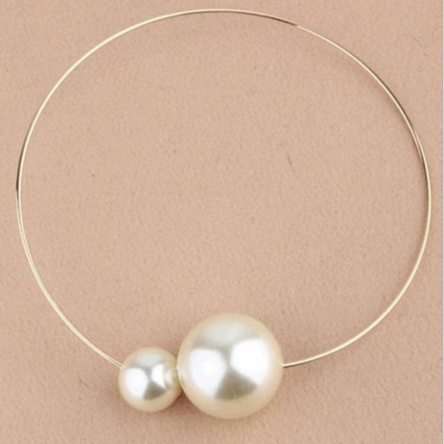 Women's Pearl Choker Necklace Pendant Necklace Mother Daughter Ladies Fashion Pearl Imitation Diamond Alloy Necklace Jewelry 1pc For Wedding Party Daily Casual / Vintage Necklace / Pearl Necklace