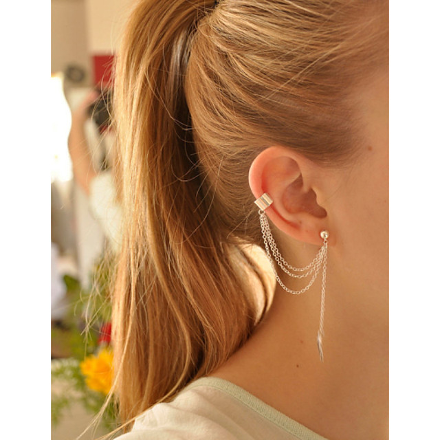 Women's Dangling Dangle Leaf Vintage Party Casual Fashion Earrings Jewelry Gold / Silver For Daily
