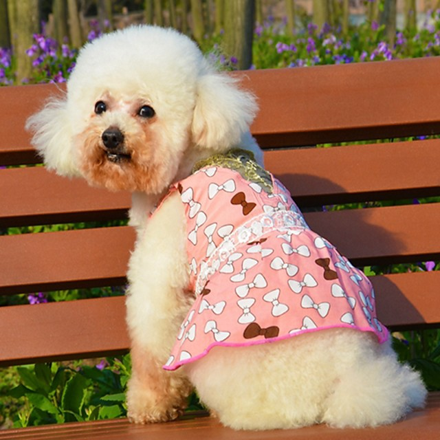 Cat Dog Dress Cosplay Wedding Dog Clothes Pink Orange Costume Cotton XS S M L XL