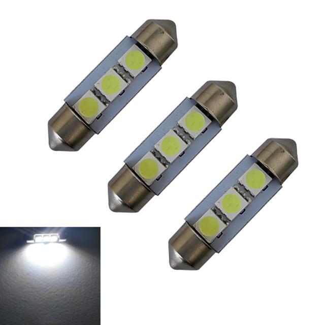 3PCS 1 W 장식 조명 60 lm 꽃줄 3 LED 비즈 SMD 5050 차가운 화이트 12 V