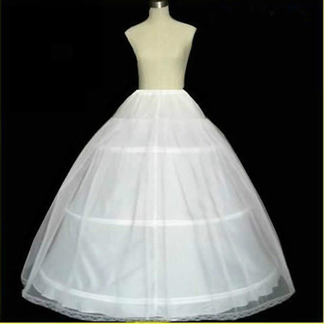 Wedding / Special Occasion Slips Tulle Floor-length A-Line Slip / Ball Gown Slip / Chapel Train with