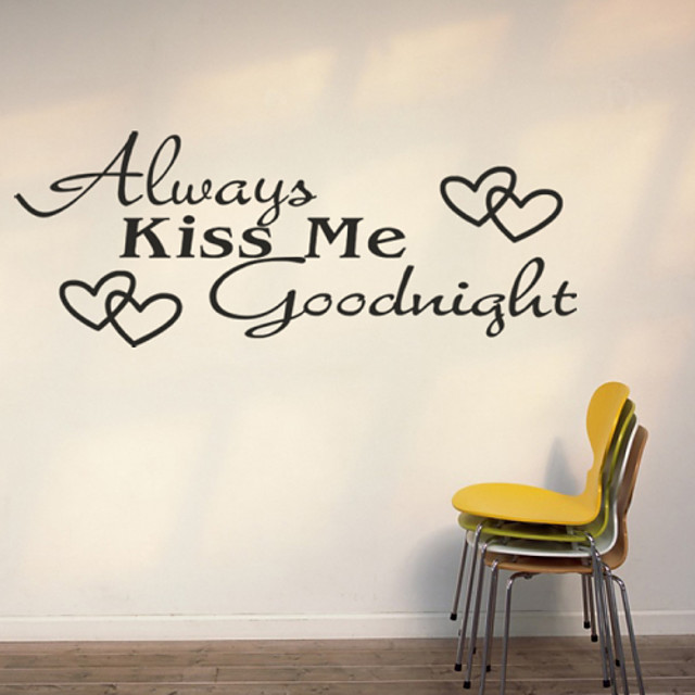 Fashion / Words & Quotes Wall Stickers Words & Quotes Wall Stickers Decorative Wall Stickers, PVC(PolyVinyl Chloride) Home Decoration Wall Decal Wall Decoration / Removable