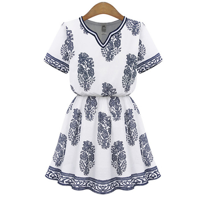 Women's Casual Dress Above Knee Cotton