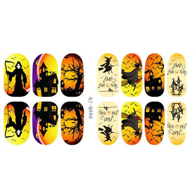 Harajuku Style Luminous Halloween Nail Stickers