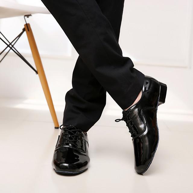男性用 モダン用シューズ 社交ダンス サルサ用シューズ ラインダンス ヒール 編み上げ ローヒール ブラック ホワイト 靴紐