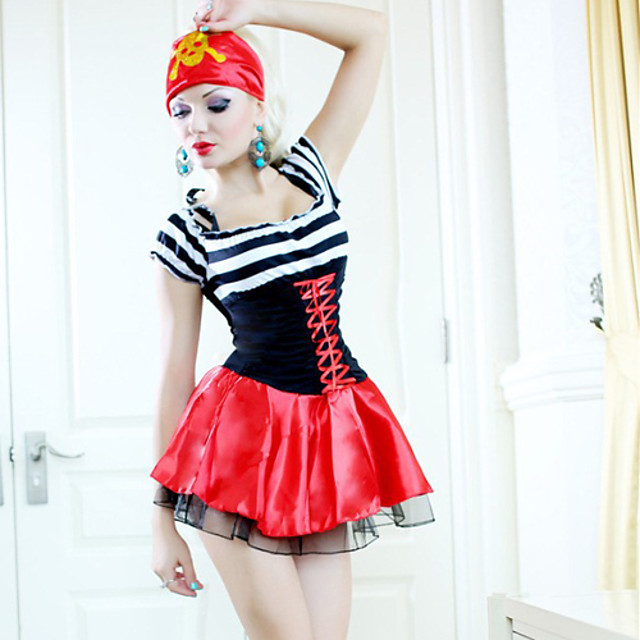 Halloween Costume skeleton outfit Cosplay witch queen role play pirate Outfit Party