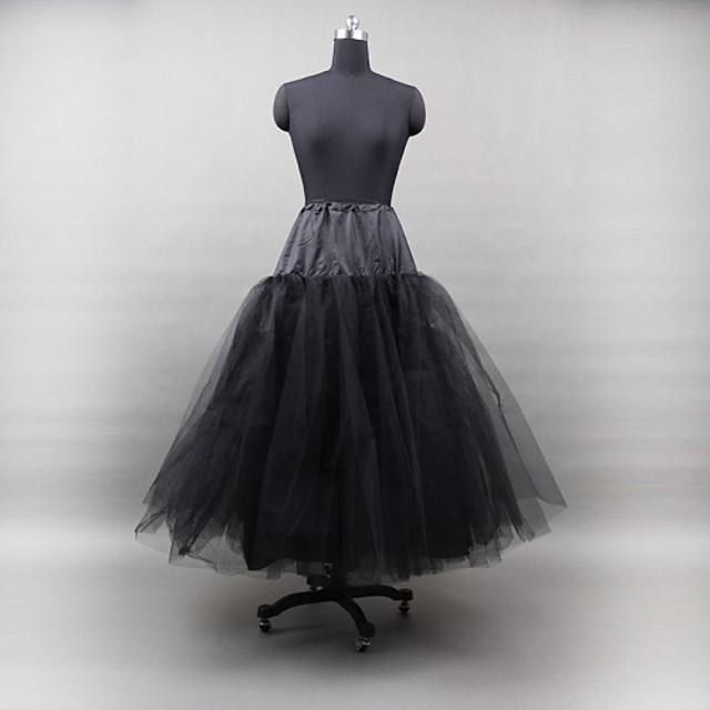 Wedding / Special Occasion / Party / Evening Slips Tulle / Polyester Floor-length A-Line Slip / Ball Gown Slip / Classic & Timeless with