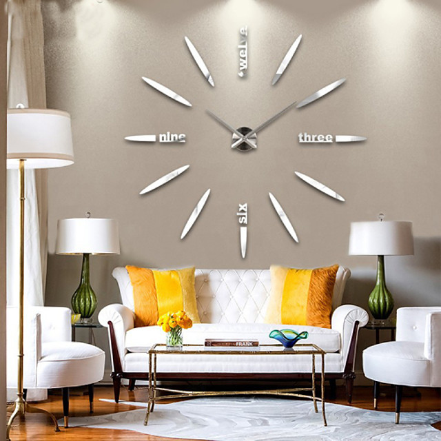 Modern Contemporary Metal Houses / Family AA Decoration Wall Clock Analog No