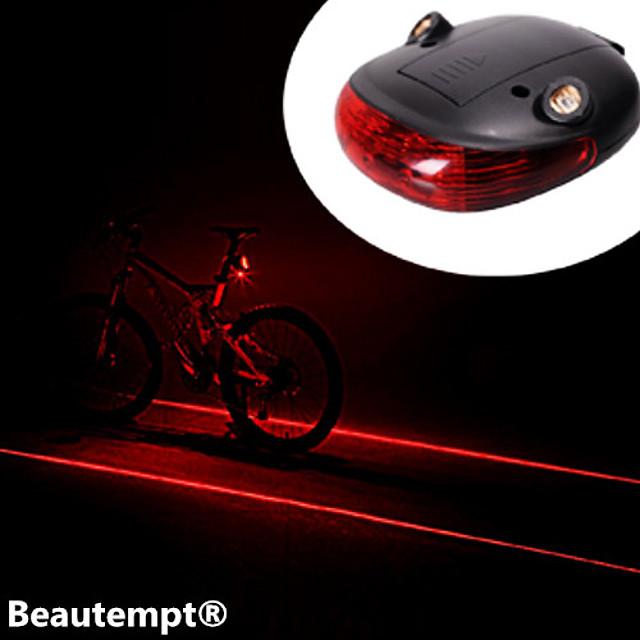 Laser LED Bike Light Rear Bike Tail Light Safety Light Tail Light Mountain Bike MTB Bicycle Cycling Waterproof Impact Resistant Laser Lithium Battery Battery Cycling / Bike / IPX-4
