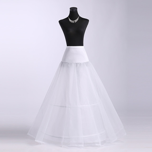 Wedding / Special Occasion Slips Spandex / Tulle / Polyester Floor-length A-Line Slip with Lace-trimmed bottom