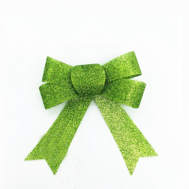DIY Christmas Tree Decor Green Bow Gift For Christmas Party 3 PCS