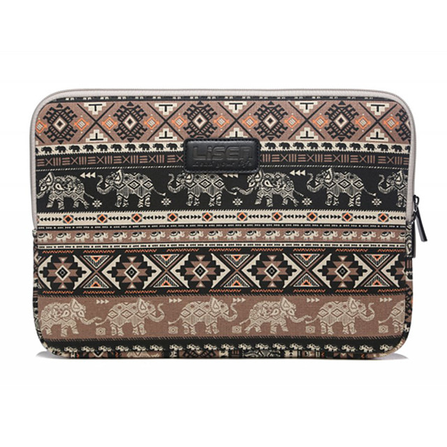 13'' 14'' 15.6'' Baby Elephant Rhombus Pattern Canvas Bag Computer Protective Sleeve Case for Macbook 13 /15 HP lenovo