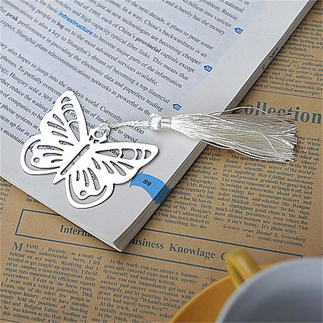 Wedding / Anniversary / Engagement Party Stainless Steel Bookmarks & Letter Openers Garden Theme / Asian Theme / Butterfly Theme - 1 pcs