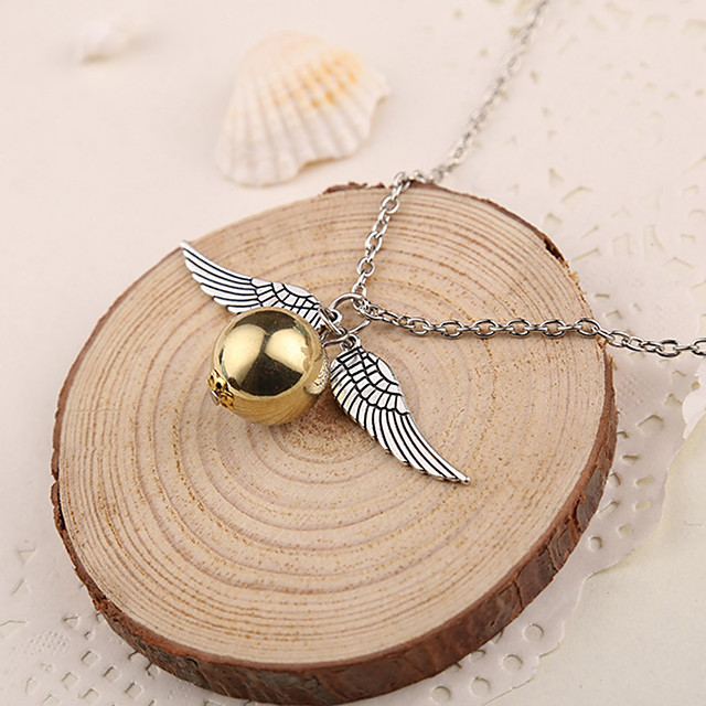 Women's Pendant Necklace Ladies Silver Golden Necklace Jewelry 1pc For