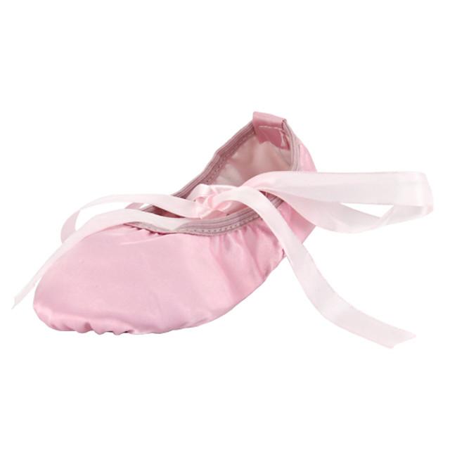 Ballet Shoes Flat Flat Heel Red Pink Camel Ribbon Kid's