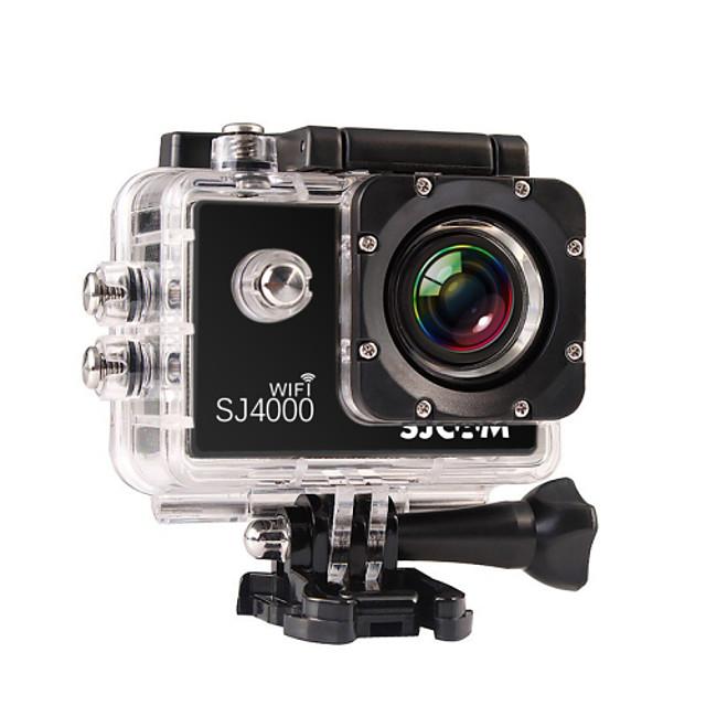 SJCAM SJ4000 WIFI מצלמה בסגנון / מצלמת פעולה GoPro נופש בשטח בלוג עמיד במים / Wifi 32 GB 8 mp / 5 mp / 3 mp 4X 1920 x 1080 פיקסל 1.5 אִינְטשׁ CMOS H.264 30 m ± 2EV / טלפון אנדרואיד / iPhone iOS