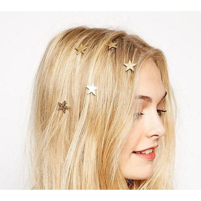 Women's Spiral hairpin For Daily Casual Flower Alloy Golden