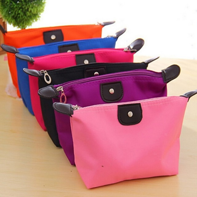 Travel Insert Portable Cosmetic Handbag Organiser Purse  Liner Tidy Makeup Travel Toiletries Bag(Random Colors)
