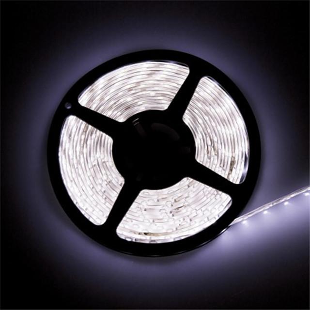 1PC LED Light Strips Waterproof Tiktok Lights IP 65 5M 16.4 Feet 600 LEDs 8mm Warm White 3000-35000K 2835 85 Lumens per Foot 12V DC Tape Light