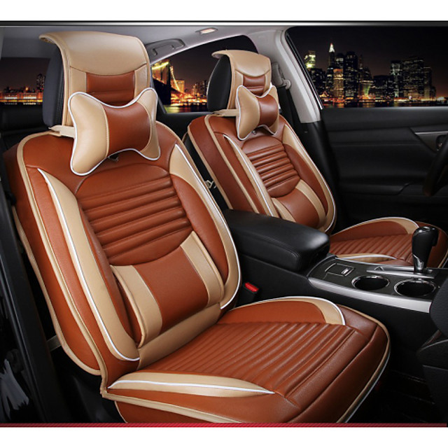 ODEER Car Seat Covers Headrest & Waist Cushion Kits Black / Red / Cream-colored / Orange Textile Business For Volvo / Volkswagen / Toyota 2005 / 2006 / 2007