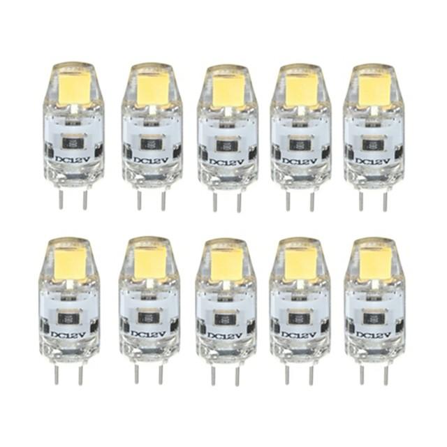10pcs 1 W LED Bi-pin Lights 100 lm G4 T 1 LED Beads COB Dimmable Warm White Cold White 12 V / 10 pcs / RoHS