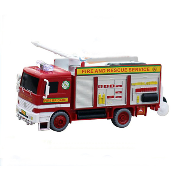 brandbil slag bobler plast rødt musik legetøj for børn