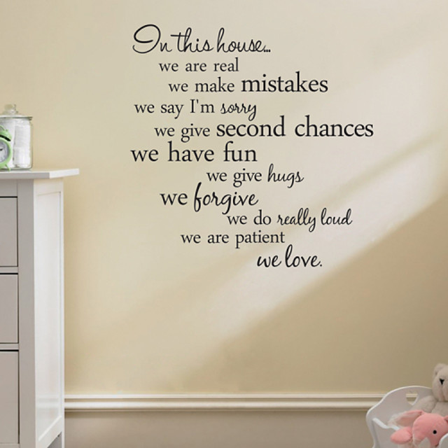 Abstract / Words & Quotes Wall Stickers Words & Quotes Wall Stickers Decorative Wall Stickers, PVC(PolyVinyl Chloride) Home Decoration Wall Decal Decoration / Removable / Re-Positionable