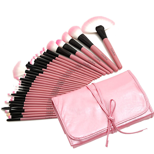 Professional Makeup Brushes Makeup Brush Set 32pcs Professional Full Coverage Synthetic Hair Wood Makeup Brushes for Makeup Brush Set