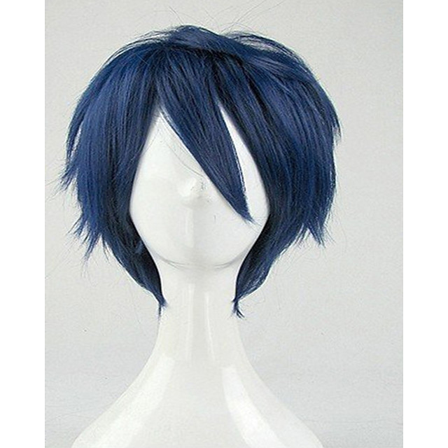 Cosplay Costume Wig Synthetic Wig Cosplay Wig Curly Curly Wig Short Blue Synthetic Hair Women's Blue hairjoy
