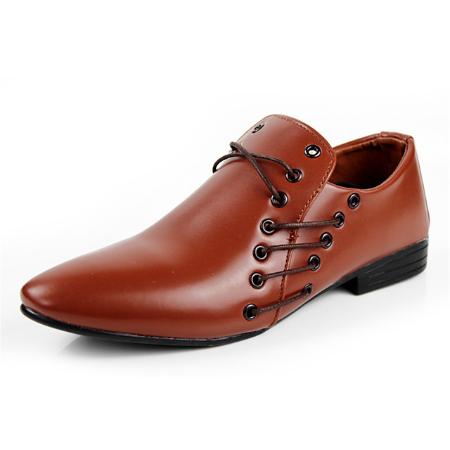 Men's Formal Shoes Faux Leather Spring / Fall Oxfords Black / White / Brown / Party & Evening / Party & Evening / Dress Shoes / Comfort Shoes