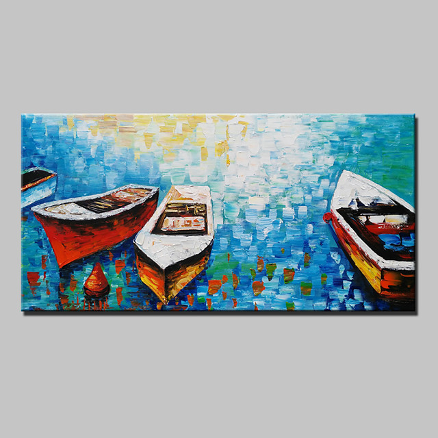 Mintura® Lager Handmade Sea Boat Knife Oil Painting On Canvas Wall Paintings For Living Room Home Decor Whit Frame Ready To Hang