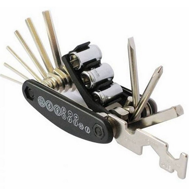 15 in 1 Multi Usage Bike Bike Repair Bike Tools Kit Hex Wrench Nut Tire repair Hex Allen Key Screwdriver Socket