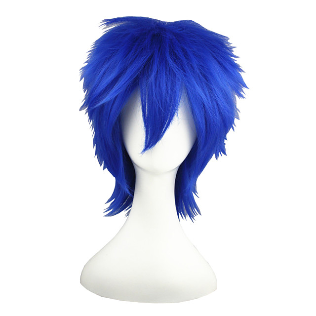 Synthetic Wig Straight Straight Wig Blue Synthetic Hair Blue