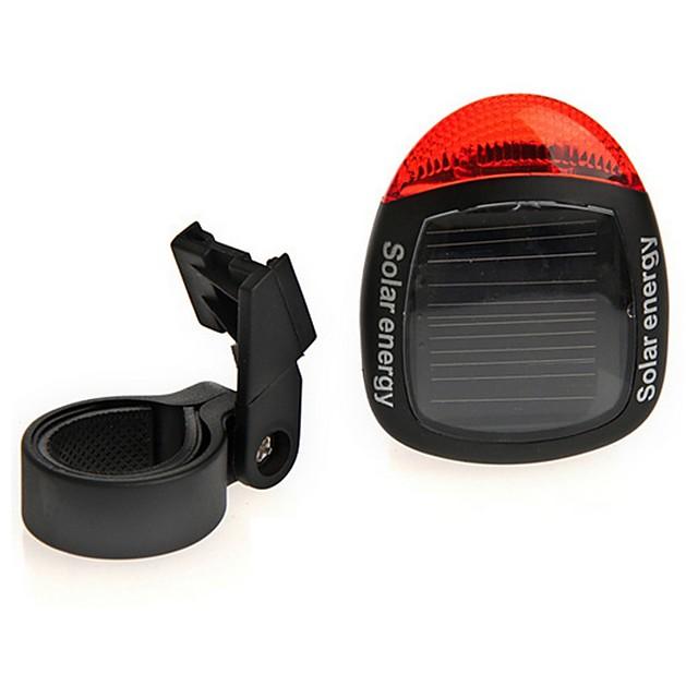Solar Powered Rear Tail Bike Light Lamp Taillight Waterproof Bright LED Cycling Bike Night Safety Rear Light