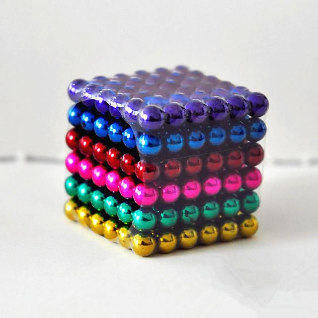 216-Piece 5mm Magnetic Building Blocks (various colors)