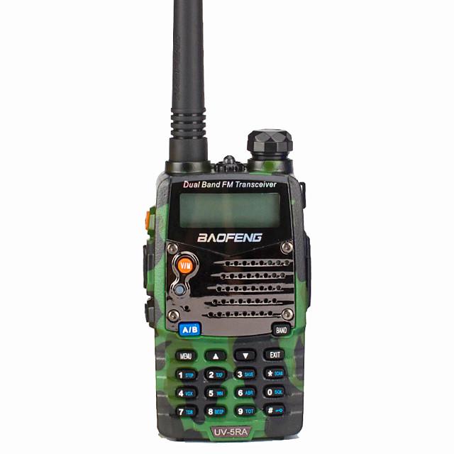 baofeng uv-5ra radiopuhelinpuhelin sisäpuhelimet kannettavat / digitaaliset äänikehotteet / kaksoisnäyttö 1,5km-3km 1,5km-3km 128 1800 mah 5w kaksisuuntainen radio / 136-174mhz / 400-520mhz / dual-ban